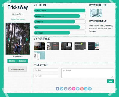 Awesome Resume, Portfolio Html Web Template - TricksWay Giveaway