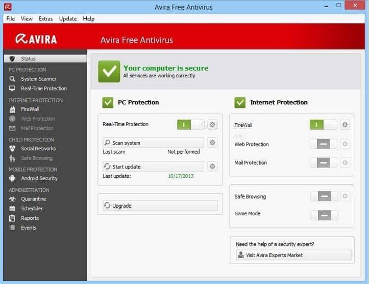 Avira Free Antivirus 14.0.4.672 Best Free PC Security