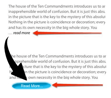 How to replace read more text with image in WordPress